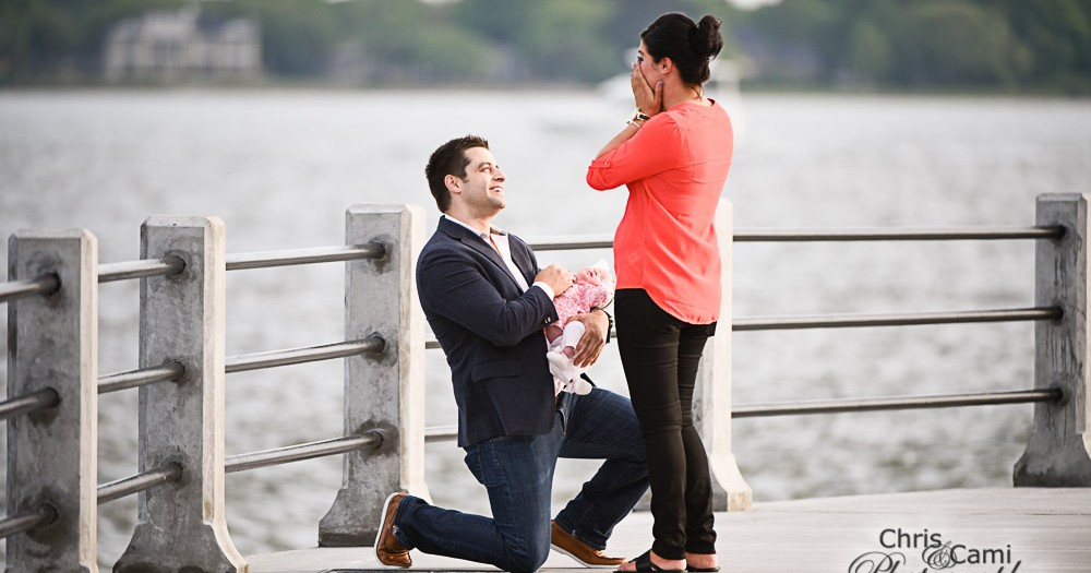 Dennis & Brittany's Secret Proposal at The Battery