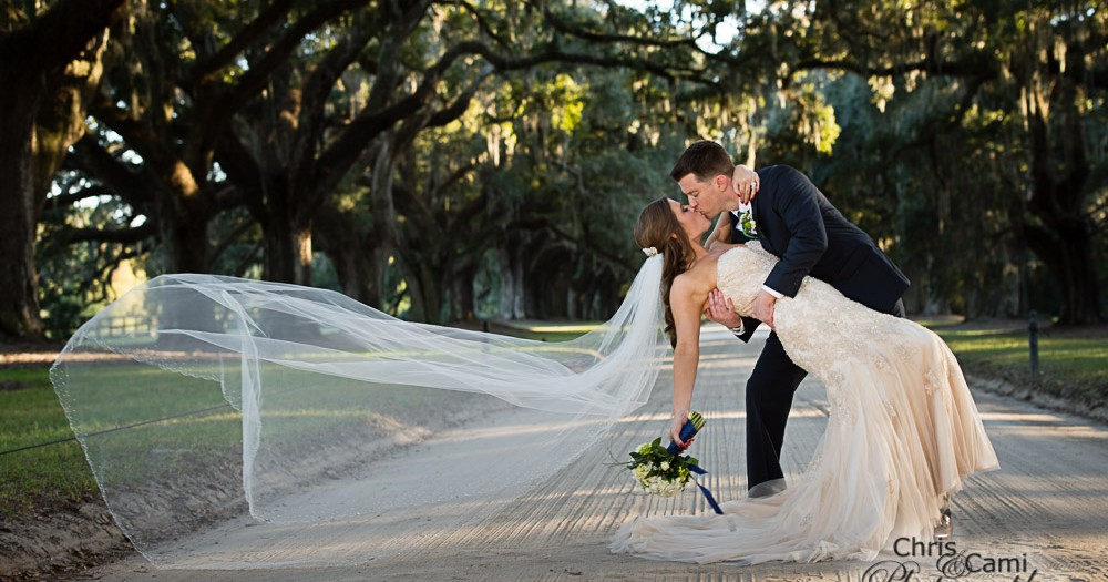 Catie & Justin at Boone Hall Plantation