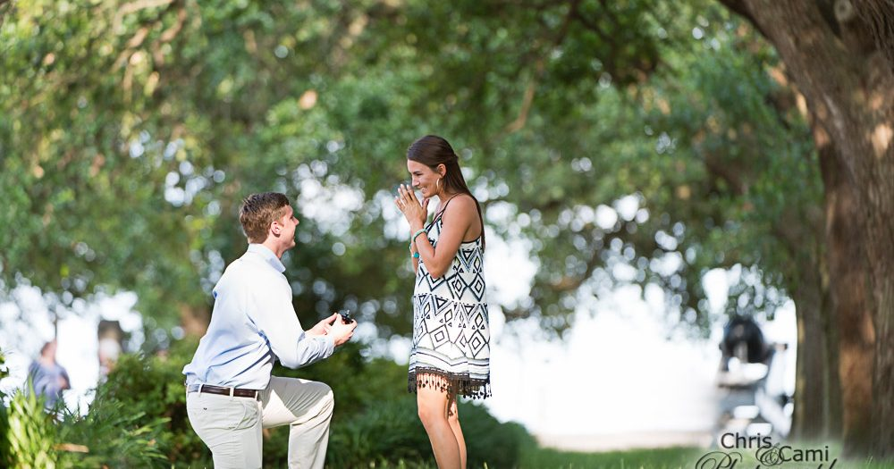 Meredith & Peyton's Secret Proposal at White Point Garden