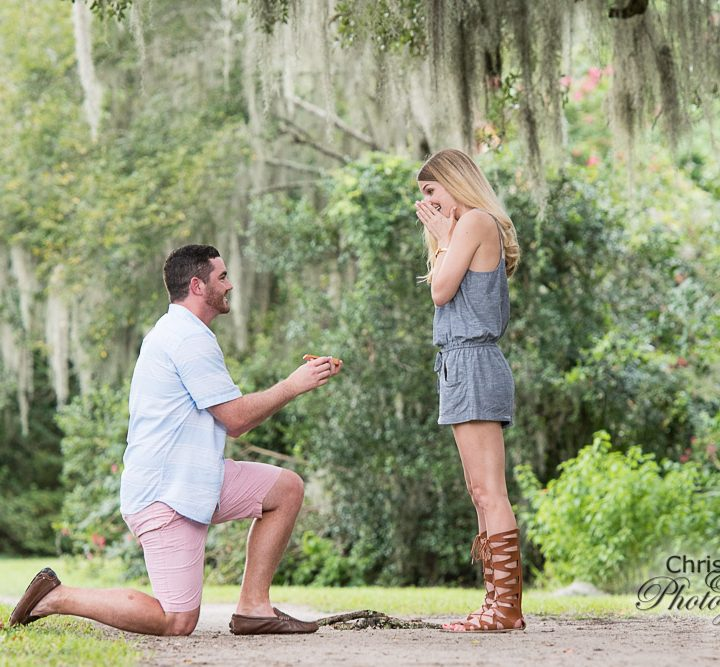 Christina & Jeff's Secret Proposal at Magnolia Plantation