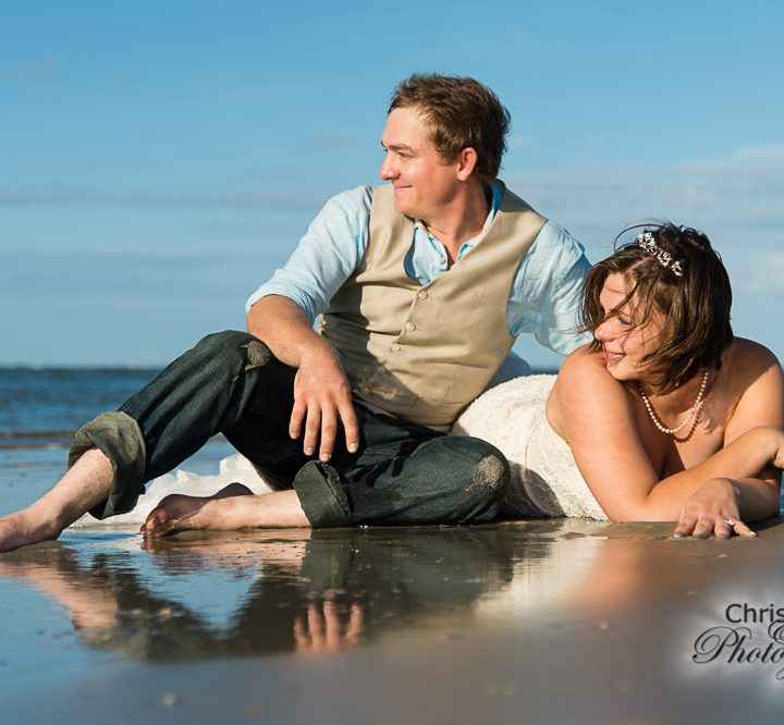 Maniesha & Travis Part 3:  Folly Beach Rock-the-Dress Shoot