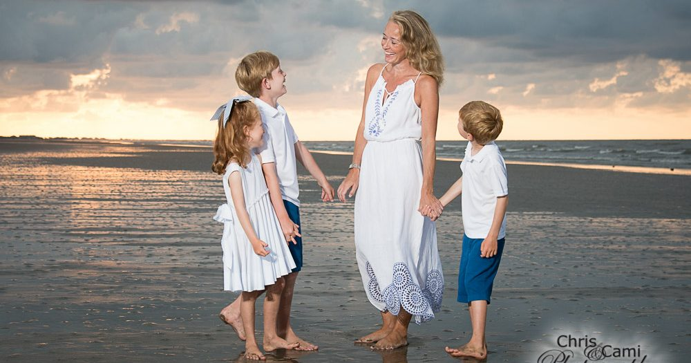 Kiawah Island Sunrise Family Session