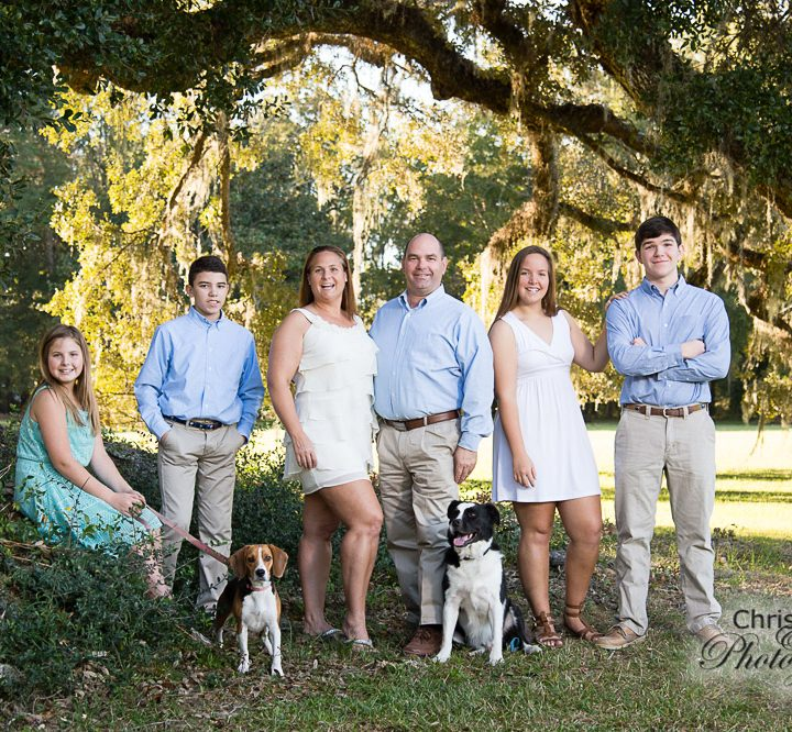 Kristin & John's Family at Runnymede Plantation