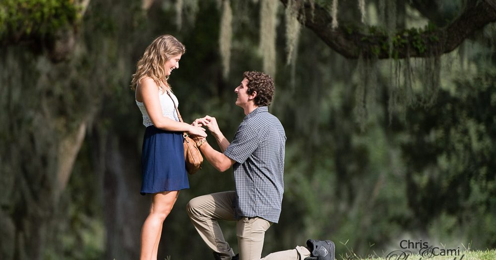 Megan & Chandler's Secret Proposal at Middleton Place
