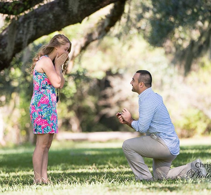 Ally & Matt's Surprise Proposal at Magnolia Plantation