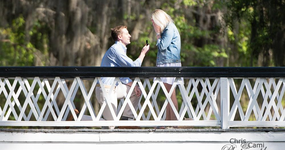 Preston's Secret Proposal to Stevie at Magnolia Plantation