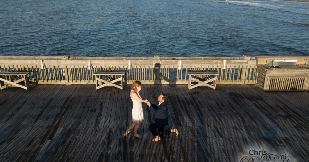 Jenna & Christopher's Sunrise Engagement on Folly Beach