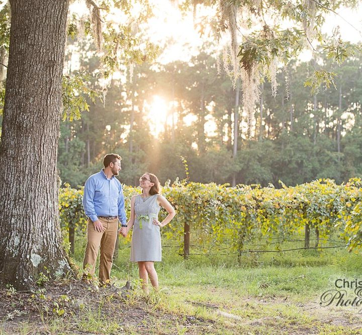 Stephanie & Eric at Deep Water Vineyard