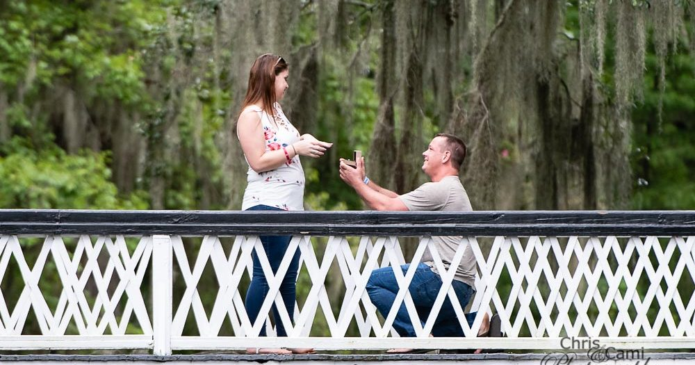 Kyle & Brittany's Surprise Proposal at Magnolia Plantation