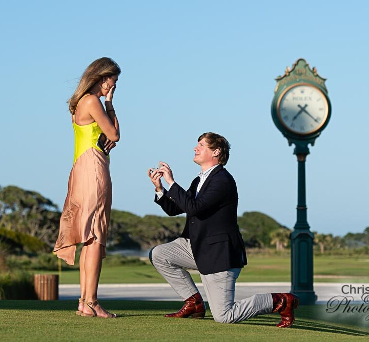 Riley & Tommy's Surprise Proposal at The Ocean Course