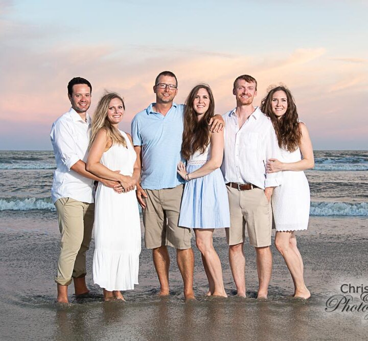 Hill Family on Folly Beach