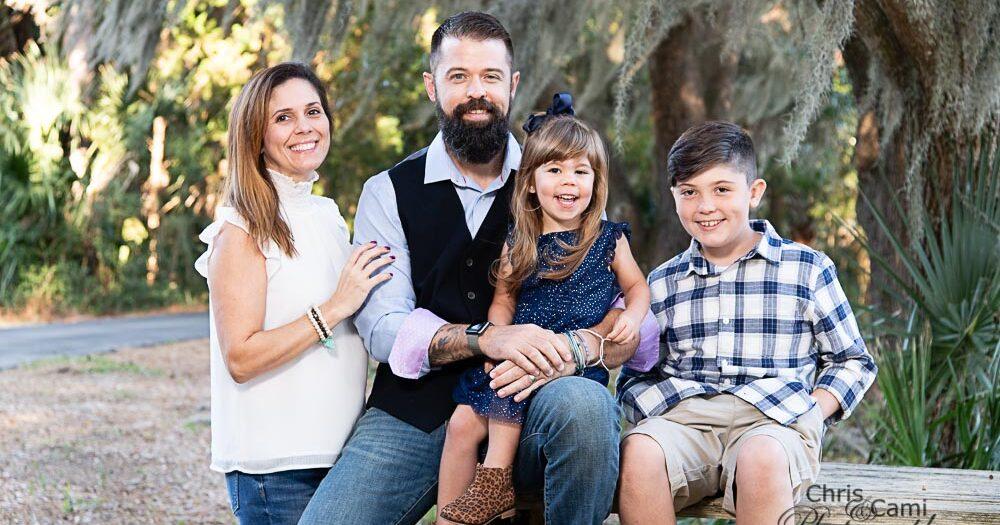 McCue Family at Palmetto Island County Park